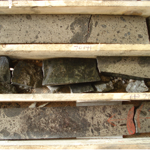 Drill Core from Lappvattnet Project, includes: 50.91 g/t PGE's (39.0 g/t platinum, 11.8 g/t palladium, 0.11 g/t gold) and 2.13% nickel over 0.45 metres